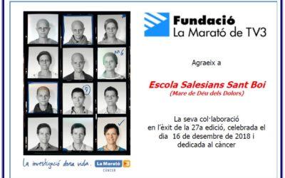 Salesians amb la Marató de TV3