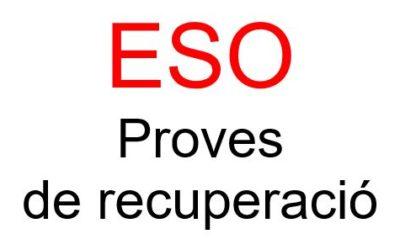 Proves de recuperació ESO